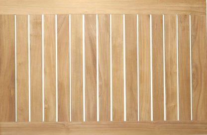 Tischplatte Teakholz rechteckig