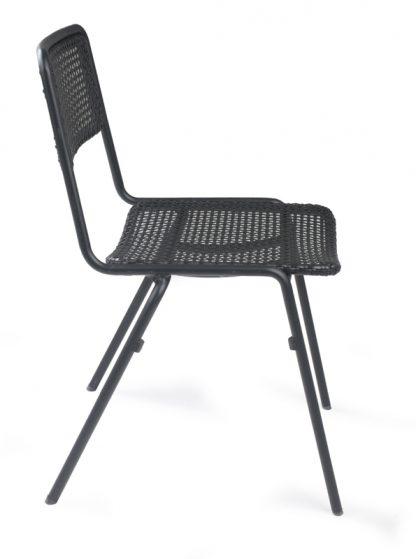 Stuhl Dwight schwarz seite