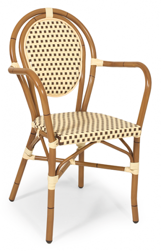 Outdoor Sessel Lyon 6 beige-braun