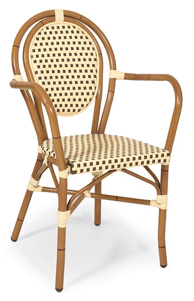 Outdoor Sessel Lyon 6 beige-braun